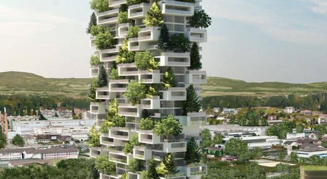 apartemen hutan vertikal pertama di dunia