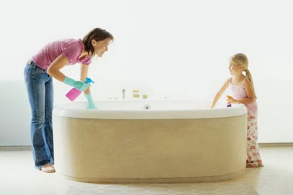 tips membersihkan bathtub