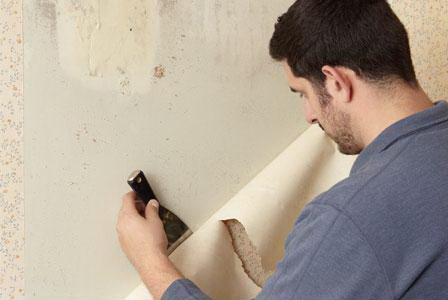 cara praktis mengelupas wallpaper