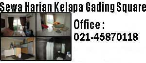 sewa harian apartemen Kelapa Gading Square
