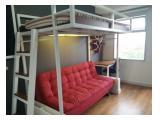 Tempat tidur loft bed (bertingkat) dan sofa bed (bisa digunakan sebagai tempat tidur atau sofa duduk)