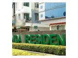 Disewakan Perjam/ Perhari/ Perminggu Apartement Margonda Residences 1 & 2 - Studio Fully Furnished