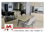 Disewakan Apartment 1 Park Avenue Gandaria - 2+1 BR, Fully Furnished, Yamaha water purifier installed, Nice view with Best Price, by Malago Project