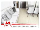 Disewakan Apartemen South Hills Kuningan, Brand New, 1 BR & 2 BR, Nice Furnitures at Friendly Price, by Malago Project