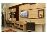 dining table and tv set
