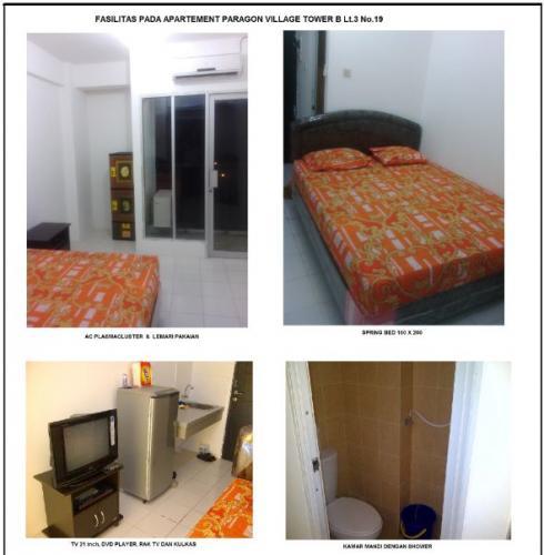 Sewa Murah Apartemen Studio Di Paragon Village Karawaci - Furnished