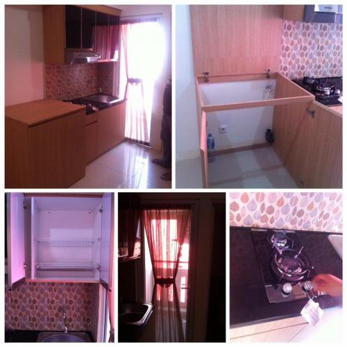 Apartemen sewa tahunan the green pramuka city 2 br semi for Kitchen set kompor tanam
