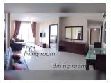 living room & dining room. tv, ac, city view balcony.