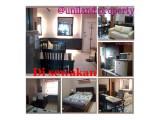 Apartemen Disewakan 2Kamar Full Furnish Interior Mewah Siap Huni, Murah Luas 48m2, Tahunan, Grogol, Jakarta Barat