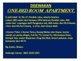 Apartement Jati Indah 1 - Full Furnished - Pondok Labu - Jakarta Selatan