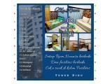 sewa apartemen metos type 1 kamar full furnish bersih dan nyaman (per hari)