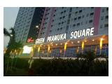 Disewakan satu unit 2 BR di Tower Penelope (diatas Mall) Green Pramuka City
