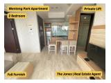 Apartment With Private Lift Facility. Comfortable and Clean Unit. For Rent 2 Bedroom Menteng Park Apartment.
