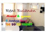 Sewa Bulanan Apartemen Pakuwon Mall supermall mansion Surabaya Barat Studio Full Furnished Mewah, Langsung Owner
