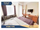 For Rent Menteng Park Apartment Studio Type. Comfortable, Clean and Strategic Unit. Walking Distance to Grand Indonesia.