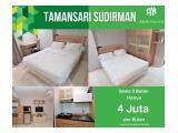 Sewa Bulanan Jakarta Selatan Tamansari Sudirman Studio 29m2