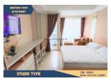 For Rent Menteng Park Apartment Studio Type. Comfortable, Clean and Strategic Unit.