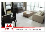 Disewakan Apartemen The Peak, 2 BR, Fully Furnished, Well Maintained at Lowest Price! By Malago Project