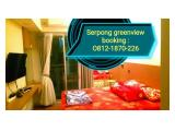 sewa apartemen harian serpong greenview tangerang green view studio & 2br gratis Wi-Fi