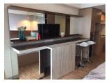 TV, mirror, tableware, TV cabinet, 2 2 bar stools