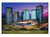 Sewa apartemen CASA GRANDE 2 + 1 fully furnished EAST VIEW